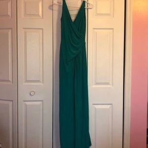 Teal long formal dress